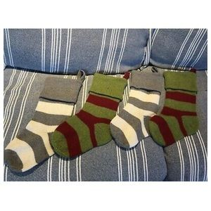 Pottery barn fair isle stockings - green/red only!